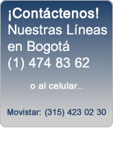 Contactar a PC Everest por Teléfono al 411 77 74 ó 474 83 62 en Bogotá Colombia