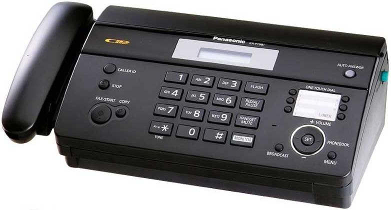 Apariencia del Fax - Panasonic KX-FT981
