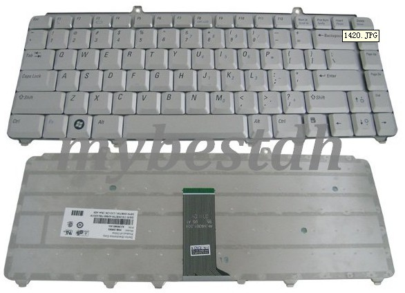 Dell Teclado DELL Inspiron 1420 1520 1521  1525  1526  XPS M1330 Vostro 1400  1500  Plateado