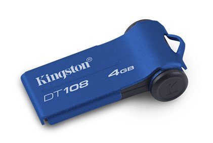 Vista Superior - Kingston DT 108 4 GB Azul
