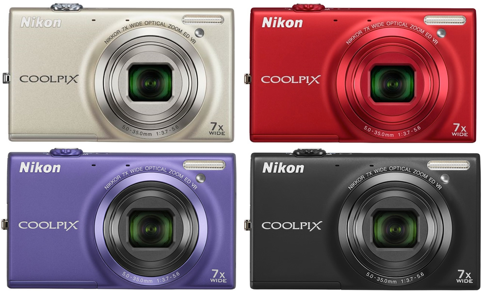 NIKON COOLPIX S6100 16MP  TOUCH  HD