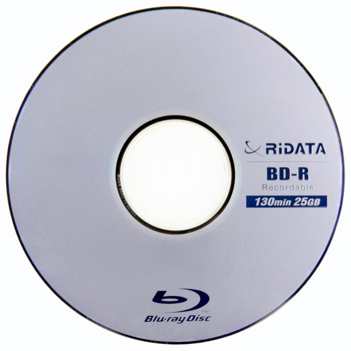 Ridata 25 Discos Blu-Ray de 25GB
