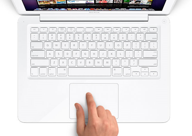 Vista Superior Teclado - Apple MacBook Blanco