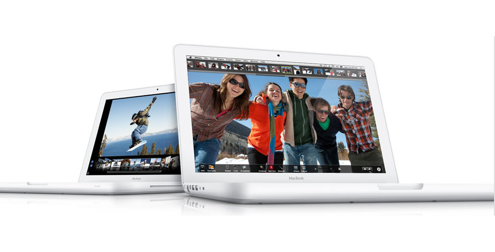 Vista Frontal - Apple MacBook Blanco