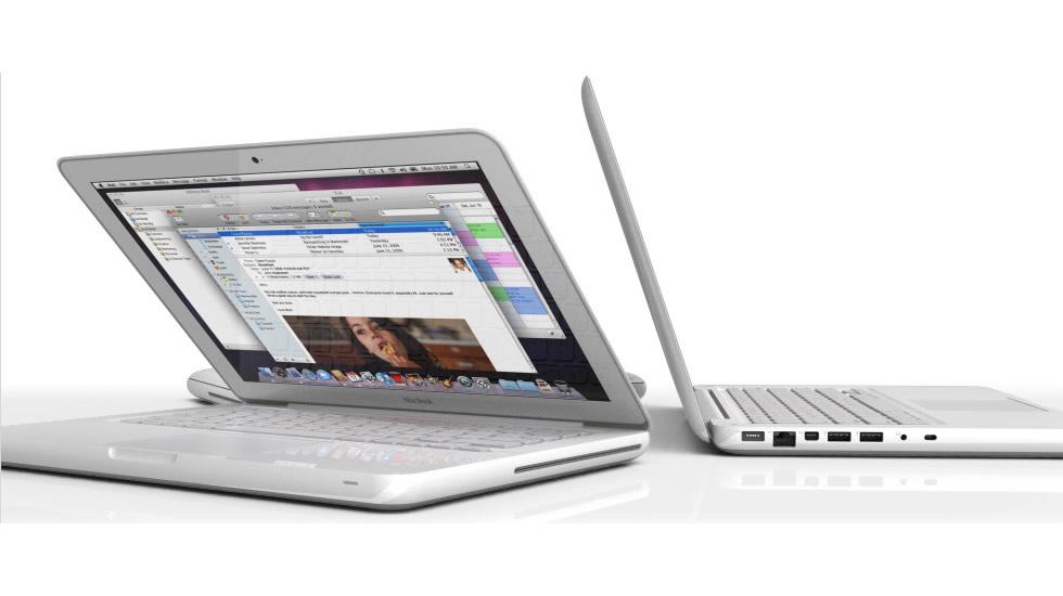 Vistos de Lado - Apple MacBook Blanco