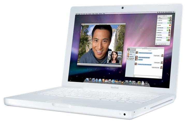 Vista Lateral - Apple MacBook Blanco