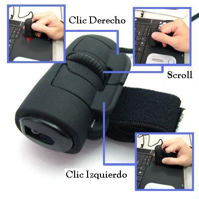 Botones y Funciones -   Mouse Tipo Anillo para Dedo