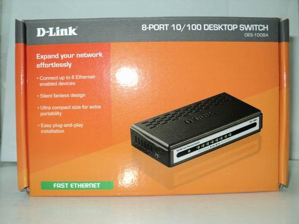 Caja Original - DLink DES 1008