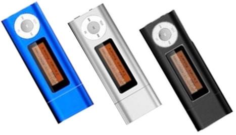 Colores azul gris o negro -   Reproductor Mp3 USB 4GB
