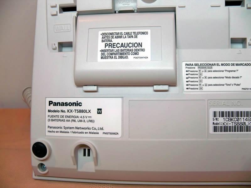 Compartimiento Pilas - Panasonic