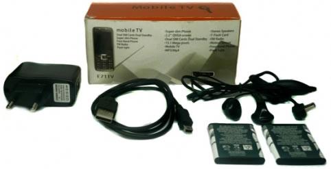 Contenido Caja -   E71 Doble SIM con TV