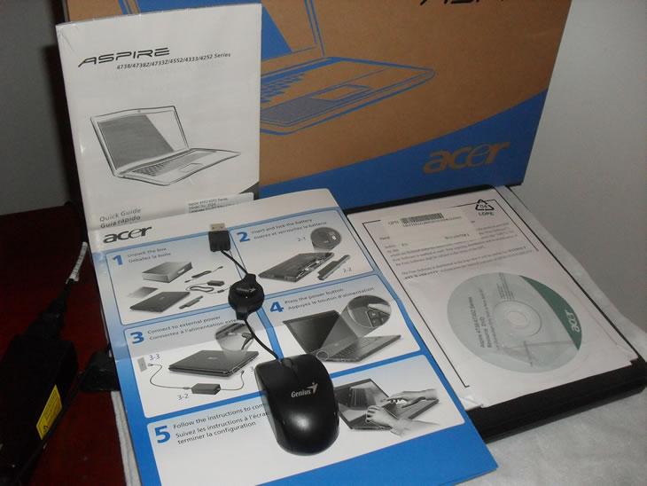 Caja Original - Obsequio Mouse - Acer Aspire 4252 - V903