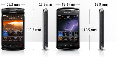 Dimensiones Tamaño - BlackBerry Storm 9530 Pantalla Táctil