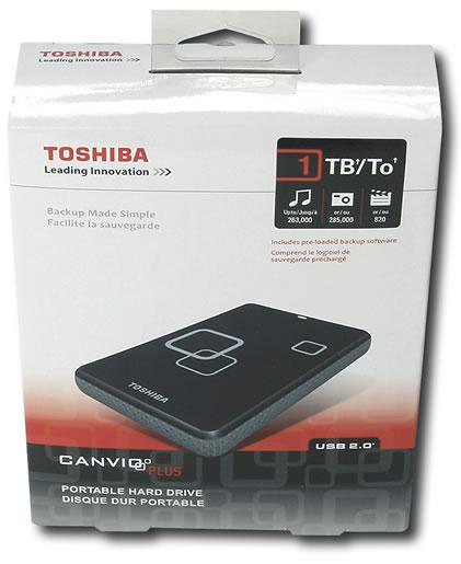 Caja Original - Toshiba Disco Externo 1.000 GB (1 TB)