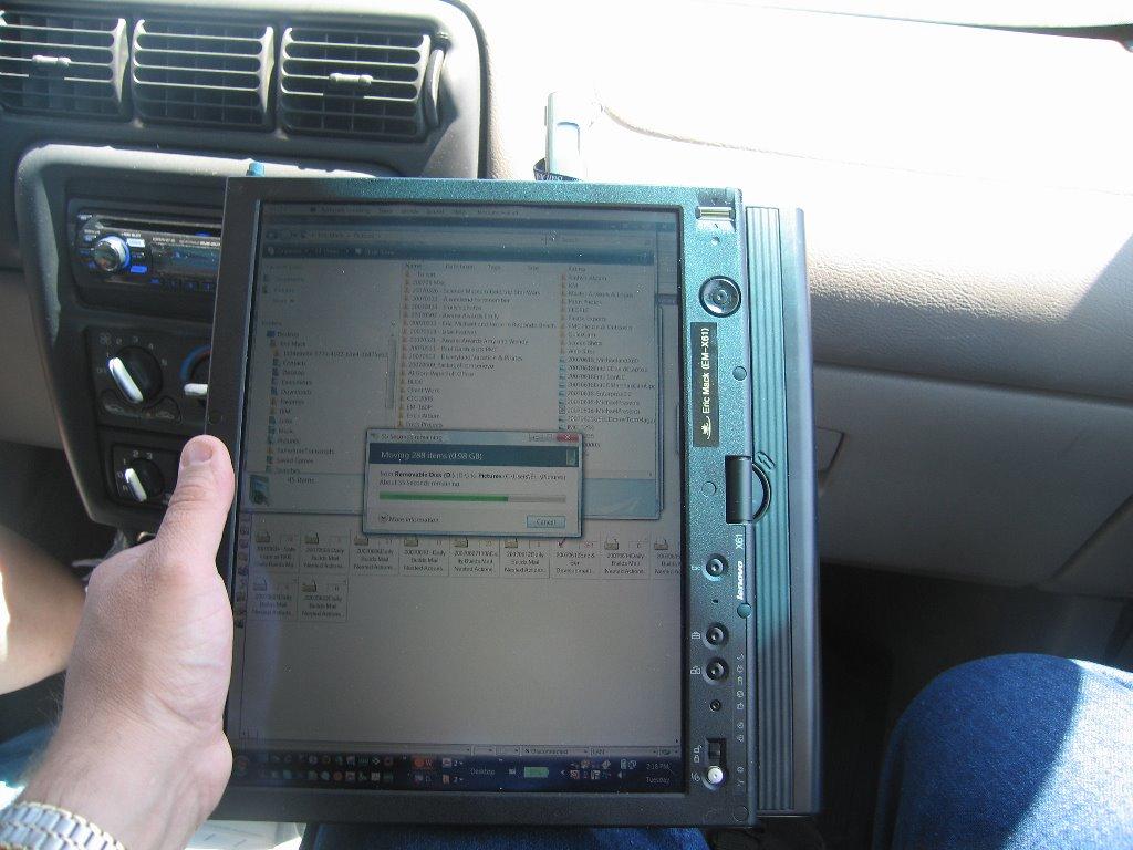 Utilizandolo en la Mano - IBM Lenovo thinkpad X201