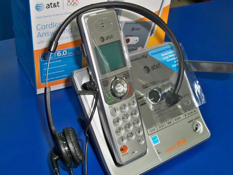 Diadema con Teléfono Inalámbrico - AT&T SL82118 Kit Diadema Inalámbrica con Teléfono