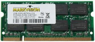 Vista Frontal Chip de Memoria Markvision 2GB DDR2 - Markvision 2GB DDR2