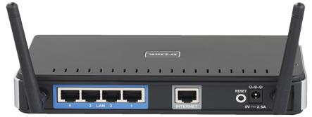 4 Puertos Cableados - DLink Router DIR 615 Doble Antena