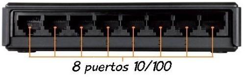 8 Puertos de Conexión - DLink DES 1008