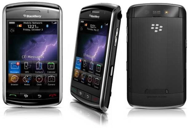 Vista Frontal Posterior - BlackBerry Storm 9530 Pantalla Táctil