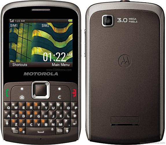 Vista Frontal y Trasera - Motorola Ex115 de Doble Sim Card