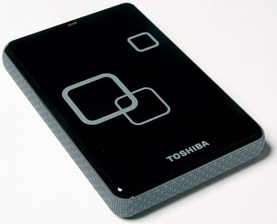 Vista Lateral - Toshiba Disco Externo 2 Teras