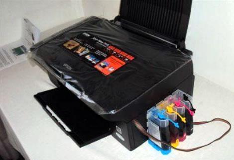 Vista Lateral - Epson Stylus TX135 con Tinta Continua