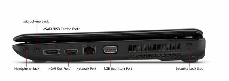 Vista Perfil Derecha - Toshiba L635 S3104 Rojo