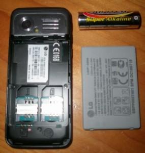 Parte Trasera - LG GX 200 Doble Sim